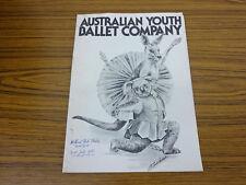 1979/80 Australian Youth Ballet Company Tour Programme