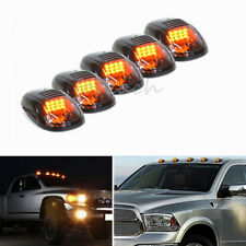 5/Set Cab Clearance Roof Marker Smoke Top Light 12 LED Amber for 03-16 Dodge Ram