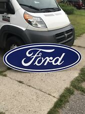 "FORD OVAL SIGN HUGE 66"" VINTAGE LOOK MUSTANG SHELBY COBRA F150 Auto Advertising"