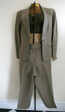 TALBOTS olive green suit cropped pants jacket 2PC 10 lined work business nation