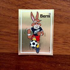 Panini Euro 88  1988 Mascota Number 39  Berni Whith Original Back Panini