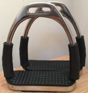 New Stirrups Iron Steel Flexi Safety Bendy Horse Riding Equestrian..  SS