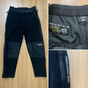 Mountain Hardwear Gore Windstopper Pants Usa Made Fleece Black Size Large