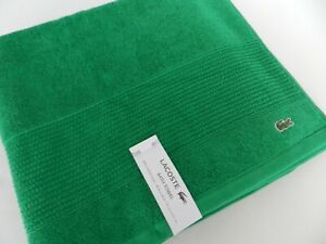 """Lacoste Bath Towel 100% Cotton 30""""x54"""" Embroidered Logo Green NWT"""