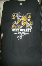 24 Kobe Bryant 1978-2020 Thank You MENS T Shirt 2XL- BLACK- NEW