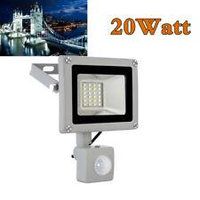20W LED SMD Kaltweiß PIR Fluter mit Bewegungsmelder Scheinwerfer Flutlicht 220V