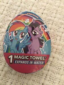 "MY LITTLE PONY Magic Towel Washcloth 11.5""x11.5"" Stocking Stuffers NIP"