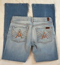 """7 For All Mankind """"A"""" Pocket Boot Cut Low Rise Womens Jeans Size 28 (P30#274)"""