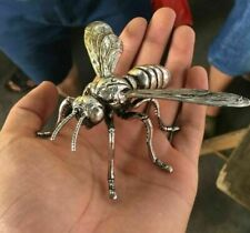 Hand sculpture of the Miao silver statue, realistic dragonfly