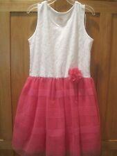 Girl TCP  WHITE LACE & HOT PINK MESH SHEER SKIRT DRESS NWT 10 12
