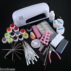 Fantastic 9W Professional Cure Lamp Dryer UV Gel Nail Skill Tools Full Set