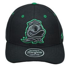 NCAA Zephyr Oregon Ducks Black Snapback Hat Cap Curved Bill Structured Sports