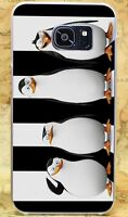 Penguins White and Black hard case for iPhone XS 8 7 6 Samsung S10 S9 A8 Huawei
