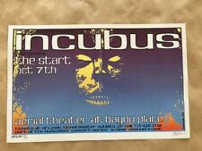 Incubus Aerial Theatre Houston Tx 2001 Concert Poster Jermaine Rogers S/N 1st ed