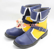 Kingdom Hearts 3 Sora Blue Short Adult Halloween Cosplay Shoes Boots X002