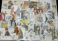 PRETTY LADY Paper Ephemera Art Packs~1930s Fashion Cuts,Vtg Ads,Victorian Women+
