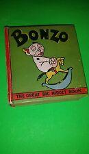 NICE 1934 HTF TITLE 1930s BONZO GREAT BIG MIDGET BOOK  BIG LITTLE BOOK
