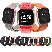 For Fitbit Versa 2 1/Lite/SE Woven Nylon Loop Sport Watch Band Strap Wristband