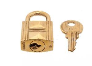 Hermes Gold Birkin Lock and Key