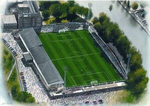 Gay Meadow Stadium Aerial View Fine Art A4 Print - Shrewsbury Town FC