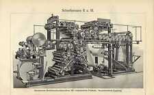 Old print Printing press paper snelpers pers 1907 antique