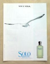 B310-Advertising Pubblicità-1999 - SOLO SOPRANI - EAU DE TOILETTE UOMO-DONNA