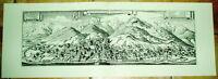 Eisenerz alte Ansicht Merian Druck Stich 1650 Panorama Städteansicht Steiermark