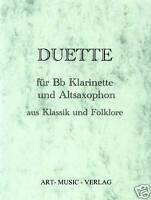50 DUETTE KLARINETTE - ALTSAXOPHON KLASSIK & FOLKLORE ( NOTEN )