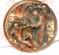 """God Creates Adam"" by Ennio Furiesi Bronze Collector Plate"