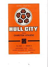 HULL CITY vs CHARLTON ATHLETIC FA CUP 3rd ROUND 1971