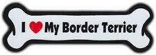 Dog Bone Magnet: I Love My Border Terrier | Dogs Doggy | Car Automobile