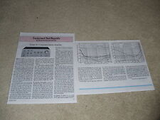 Onkyo A-7 Amplifier Review, 1977, 2 pgs, Full Test,Info