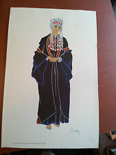 """Bedu Woman of Ta'Amreh"" Rare print ca 1953. #6 From Costumes of the Holy Land"