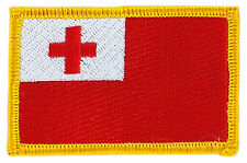 FLAG PATCH PATCHES TONGA  IRON ON COUNTRY EMBROIDERED WORLD SMALL