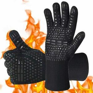 Pair Of AOMEES BBQ Gloves, Oven mitts Heat Resistant Grill Gloves Universal Size