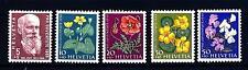 "SWITZERLAND - SVIZZERA - 1959 - ""Pro Juventute"": 50° morte di Karl Hilty; fiori"