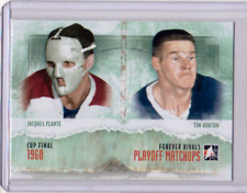 JACQUES PLANTE TIM HORTON 12/13 ITG Forever Rivals Playoff Matchups Insert PM-04
