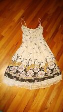 """JUNO New York"" Floral Print Design  Casual Fancy USED Dress M"
