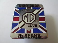 MG car club badge 75 years.motor club. car club. RAC club. AA club. sports car.