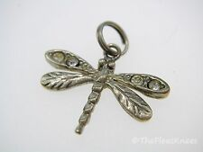 DRAGON FLY Dangle Charm Sterling Silver 7/8 x 5/8
