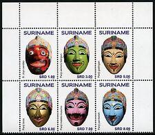 Surinam 2015 Masken Masks Folkore Brauchtum Trachten MNH