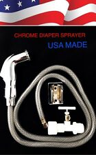 Chrome Toilet Bidet Shattaf Muslim Shower Diaper Sprayer MADE IN USA. FREE  SHIP