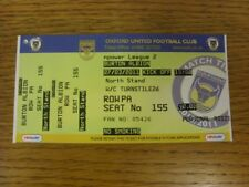 27/03/2011 Ticket: Oxford United v Burton Albion [Press] (complete). Bobfrankand