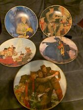 Set Of 5 Norman Rockwell Boy Scout Collector Plates All Great Condition!