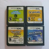 Nintendo DS Game Lot of 4 Lite DSi XL 3DS 2DS Pictionary Word Tennis Sport Nadal
