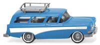 Wiking 007001 Opel Caravan 1957 con Portabagagli Blu/Bianco Ho 1:87 Nuovo