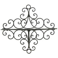 Gorgeous Rusty Black Metal Wall Shelf with Swirl Design, Amazing Home Decor. NEW