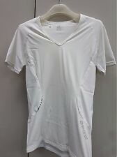 Skins A400 Short Sleeve Top V Neck Women's Top White Size XL