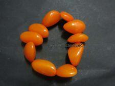 B25 tibetano resina di colore Giallo Ambra Moda Unisex Elasticizzato Bracciale Bangle