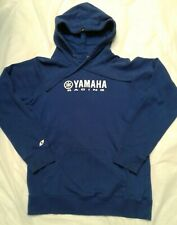 Yamaha Racing Mens Size M Pullover Hoodie Sweatshirt Blue Drawstring